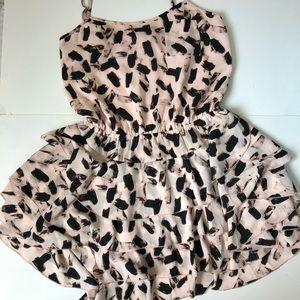 Banana Republic ruffle skirt mini dress Petite